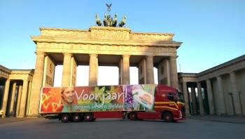 Vrachtwagenreclame van Rietvink in Berlijn